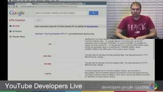 YouTube Developers Live: Troubleshooting the YouTube Analytics API thumbnail