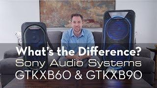 Sony Speaker Comparison: GTK XB60 and GTK XB90