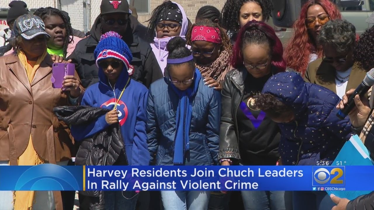 Harvey Residents Join Church Leaders In Rally Against Violent Crime