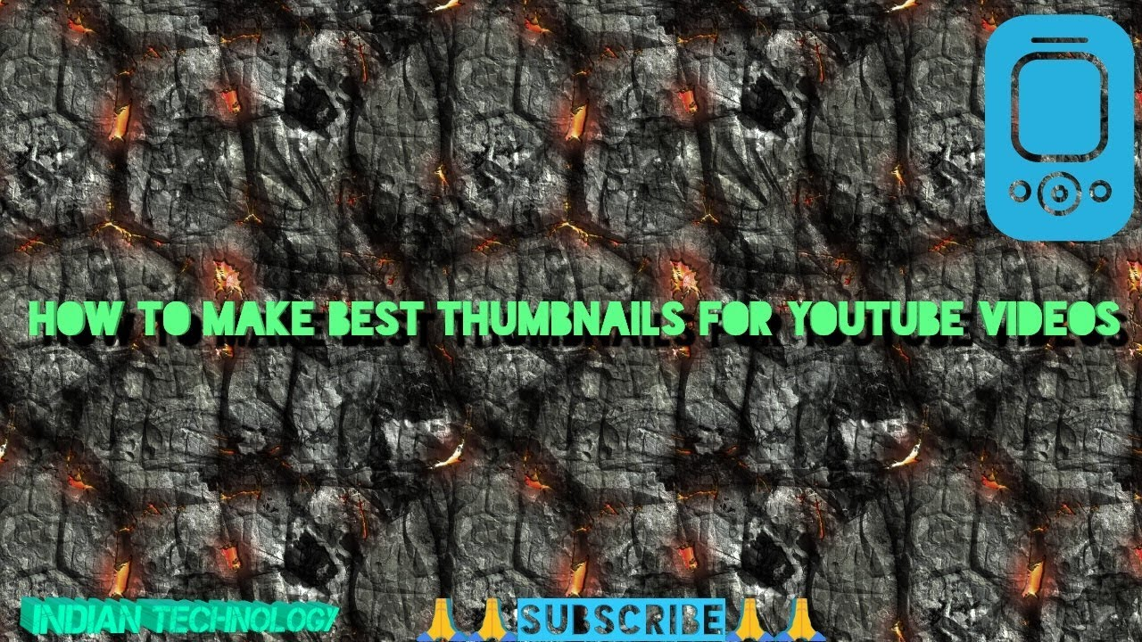 How to make attractive thumbnail for you tube videos||Hindi||by Indian technology