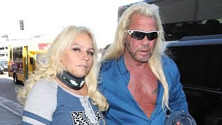 Dog The Bounty Hunter's Wife Beth Chapman Wears Neck Bandage After Having Cancerous Tumor Removed