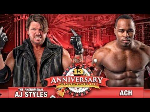 ROH AJ Styles vs ACH 13th Anniversary Highlights