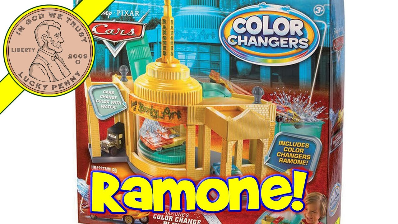 Disney Pixar Cars Ramone S House Of Body Art Color Shifters Playset 2010 Mattel Toys Youtube