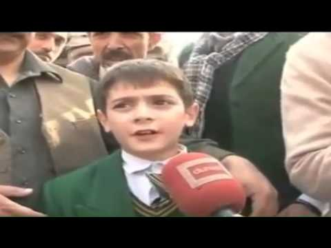 Peshawar Attack - Kids Talking to media after he's rescued by Army