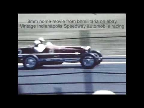 short original film 8mm home movie of Vintage Indianapolis Speedway automobile racing