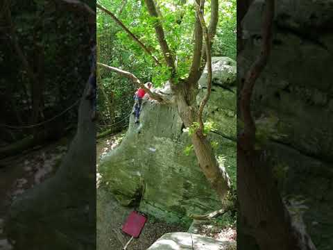 Alone - First Ascent at Eridge Green Rocks