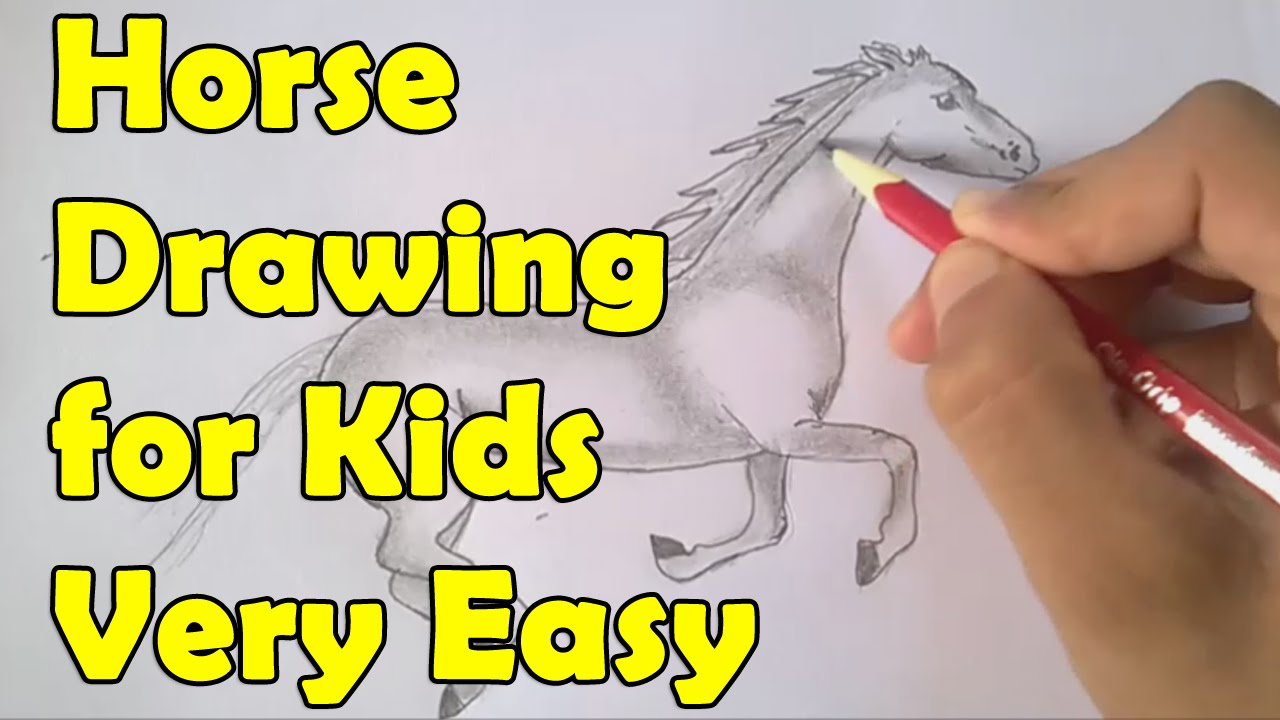 How To Draw A Horse For Kids   YouTube