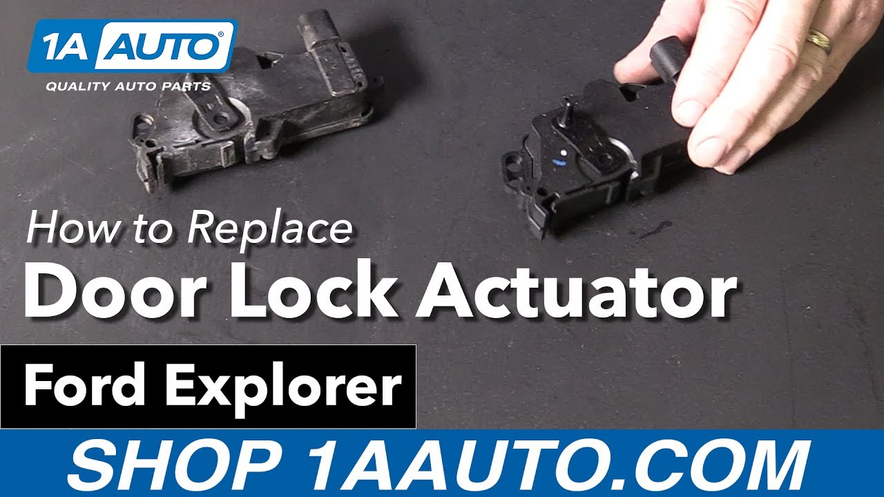 How To Replace Driver S Door Lock Actuator 02 10 Ford Explorer Youtube