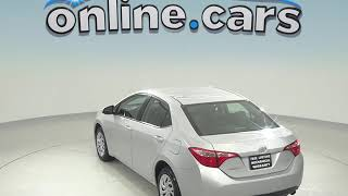 G98542TR Used 2017 Toyota Corolla LE FWD 4D Sedan Silver Test Drive, Review, For Sale