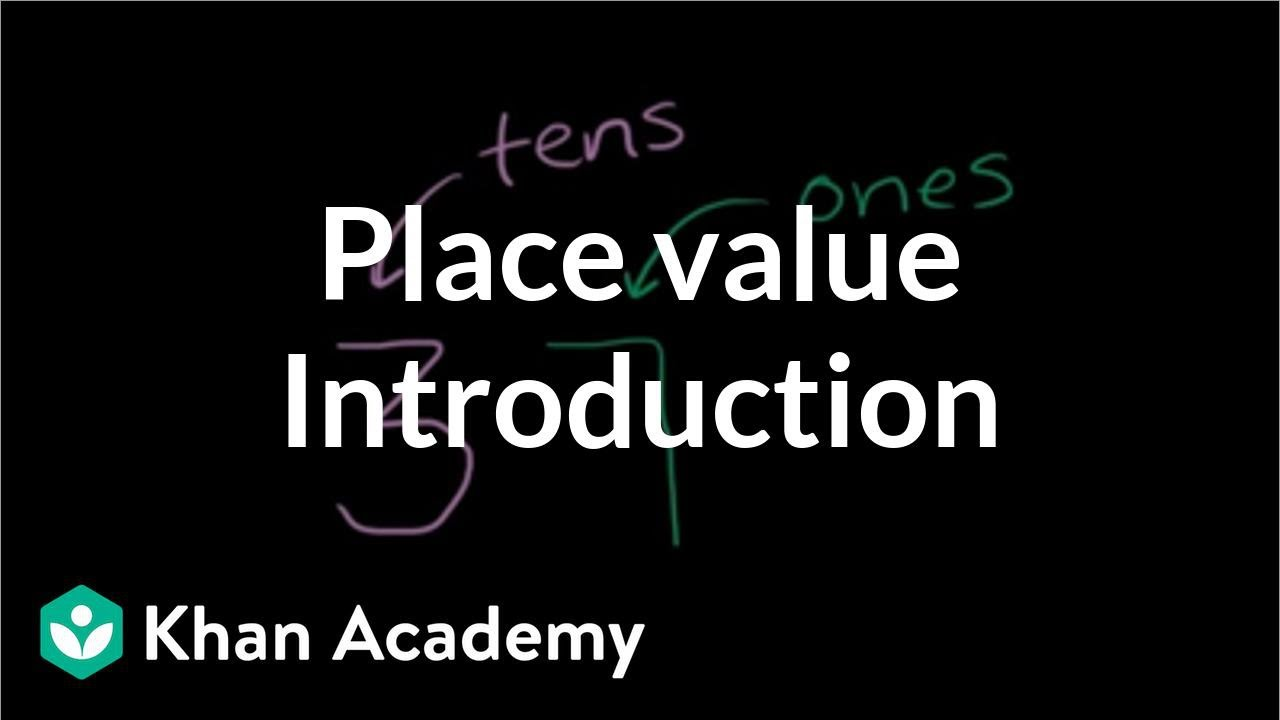 Worksheet Mr Khan Math introduction to place value tens and hundreds early math khan academy