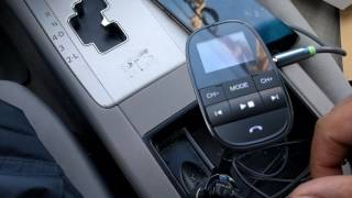 Nulaxy Wireless In-Car Bluetooth FM Transmitter - Smart Audio system for your car