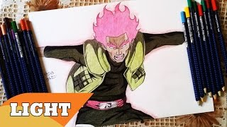 Drawing Might Gai 8 Gates From Naruto Shippuden マイト・ガイ