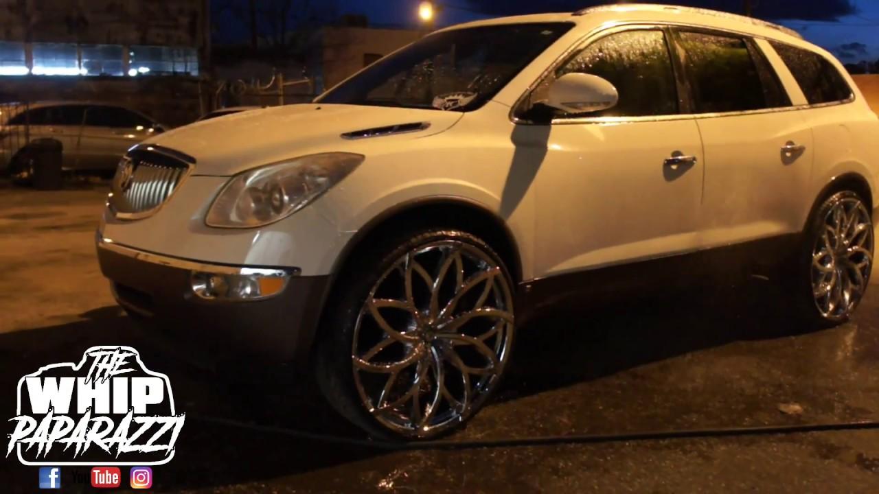 Buick Enclave Cxl On 28 Chrome Azara Aza 504 Wheels Lifted By Kc