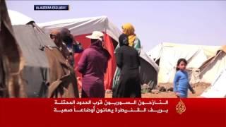 معاناة النازحين السوريين بمخيمات ريف القنيطرة