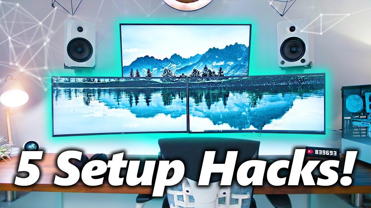 5 Cheap Tips To Improve Your Gaming / Desk Setup! v3