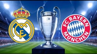 Real Madrid Bayern Munich Teams lineup champions league quarter final
