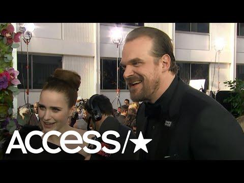 David Harbour Shares 'Stranger Things' Hopper Dance, Dishes On Potential Golden Globes Speech