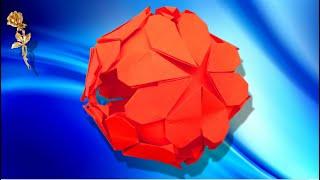 Origami modulaire, kusudama :  ❤️ Cœurs