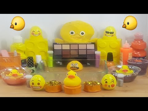 Duck Slime ★Mixing Makeup Eyeshadow Glitter into SLIME★ASMR★Satisfying Slime Video#43