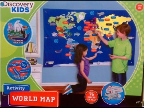 Discovery Kids Activity World Map (and a desk organizer)
