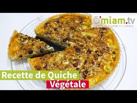 recette-de-quiche-végétarienne---quiche-100%-végétale---omiam.tv