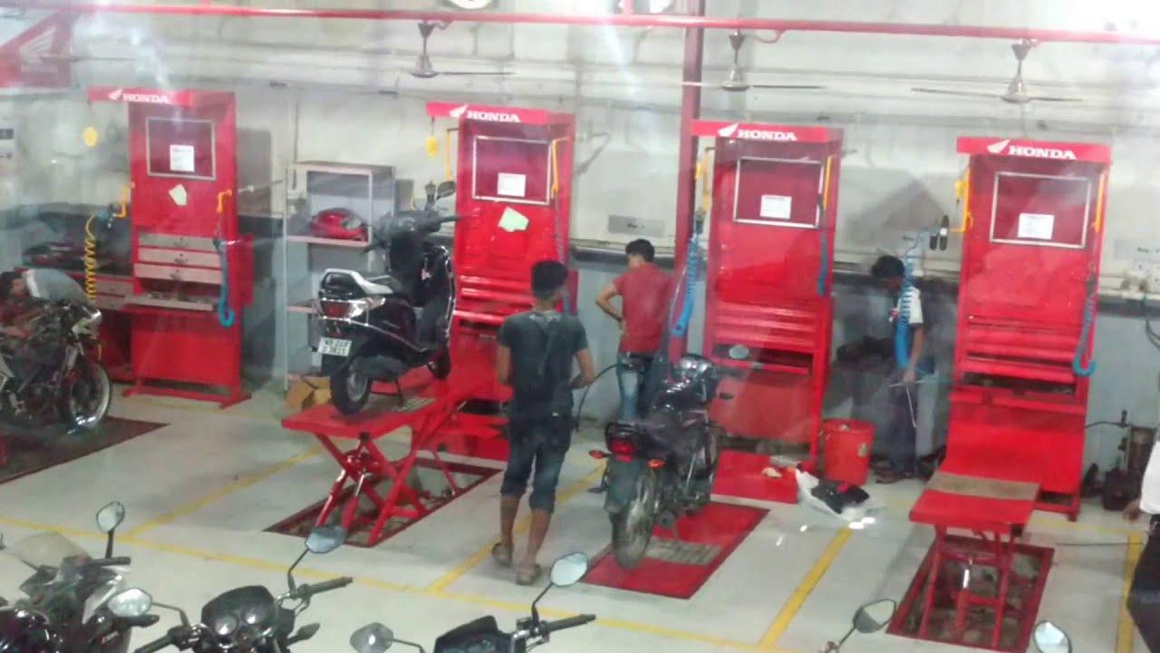 servicing   honda  wheeler service centers  kolkata youtube