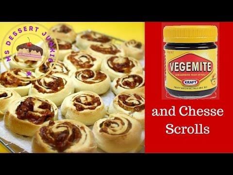 VEGEMITE AND CHEESE SCROLLS RECIPE   | AUSTRAIAN FOOD |  MsDessertJunkie
