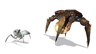 Antlion Workers vs Gonarch (Headcrabs)