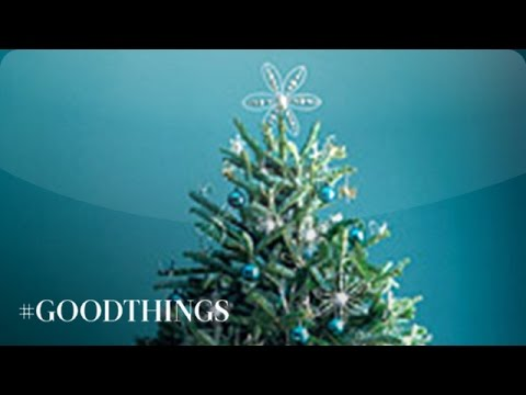 good things how to string lights on a christmas tree martha stewart