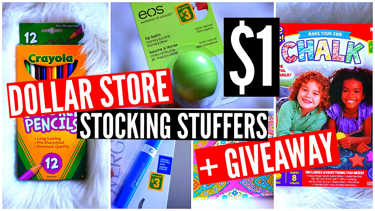 dollar store stocking stuffer ideas giveaway cheap christmas gifts youtube