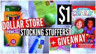 Dollar Store Stocking Stuffer Ideas & GIVEAWAY! Cheap Christmas Gifts