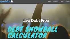 Undebt.it review-debt snowball calculator,free debt snowball calculator
