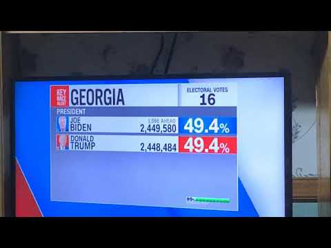 CNN Reports Biden Lead Expands To 1,096 Votes Over Donald Trump In Georgia - 2020 Presidential Race