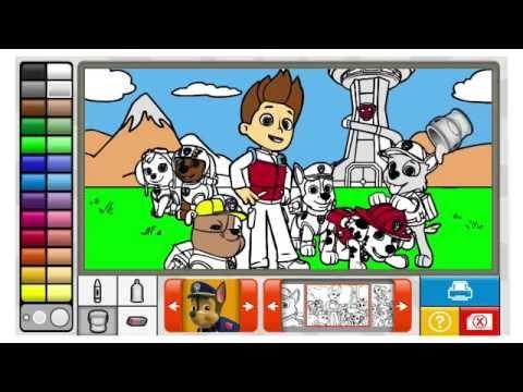 juego de colorear a la patrulla canina en espaol  YouTube