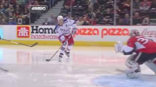 Ryan Callahan dirty dangle-snipe vs Ottawa   03/02/2010 [HD]