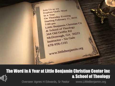Little Benjamin Christian Center Bible Study