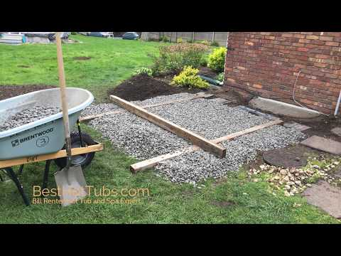 How to install a Hot Tub Base Bill Renter- BestHotTubs.com  Hot Tub and Spa Expert
