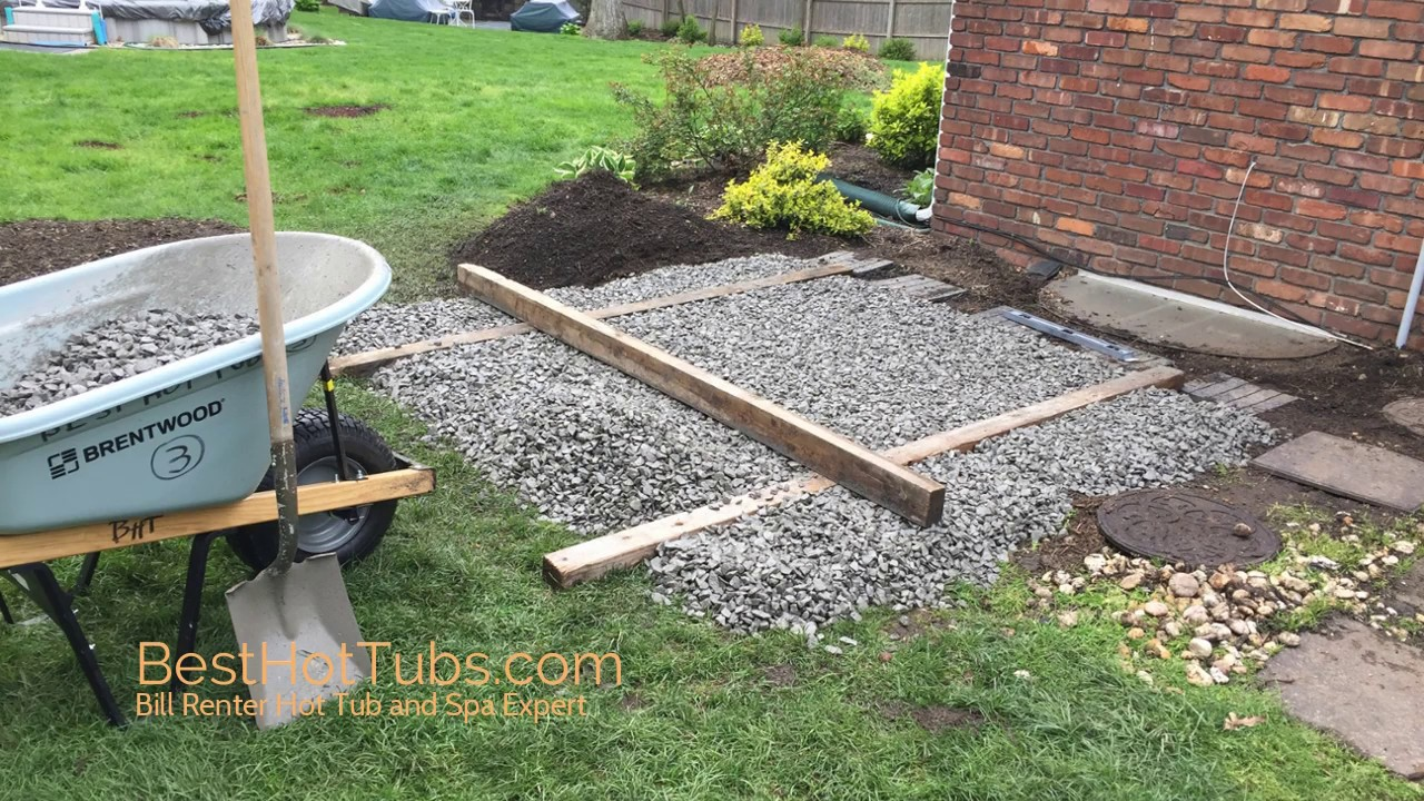 How To Install A Hot Tub Base Bill Renter Besthottubs Com Hot Tub And Spa Expert Youtube