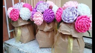 Hướng dẫn bó hoa dạng túi đứng