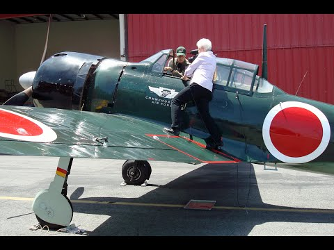 Japanese Zero Arrival at the Western Museum of Flight
