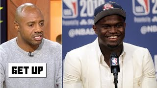 Drew Brees gifts signed jersey to Zion - Are expectations too high for the Pelicans rookie? | Get Up