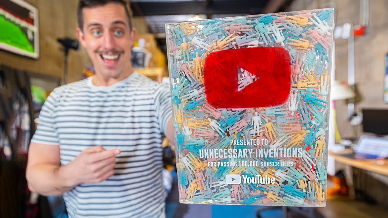 Redesigning a better 100,000 Youtube Subscriber Award