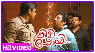 Kilipoyi malayalam movie | scenes | sampath raj searches asif ali home | raveendran