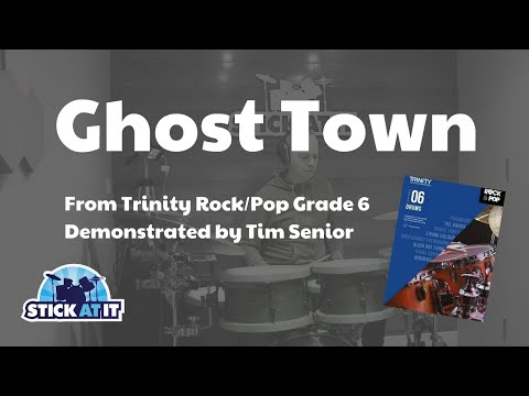 Ghost Town - Trinity Rock/Pop Grade 6 - Drum Demo
