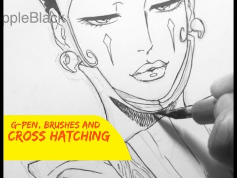 How To Ink Manga | Cross Hatching Tutorial
