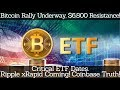 Bitcoin Rally Underway, $6,800 Resistance! Critical ETF Dates. Ripple xRapid Coming! Coinbase Truth!