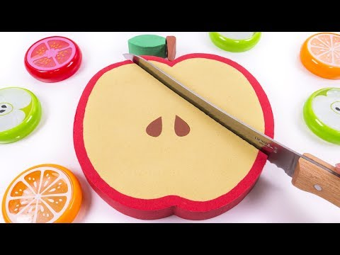 Thumbnail: DIY How to make Kinetic Sand Apple Cake Skwooshi Baby Learn Colors for Children Kids