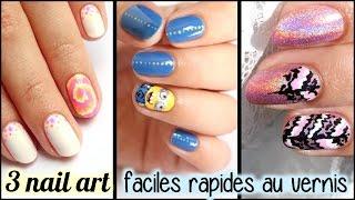Facile 3 tutos nail art sans materiel