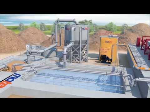 3D Movie - Waste water treatment plant by Matec