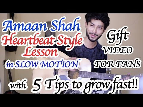 Heartbeat Style Guitar Lesson by Amaan Shah & 5 Super Tips To Grow Fast On Youtube | Hindi